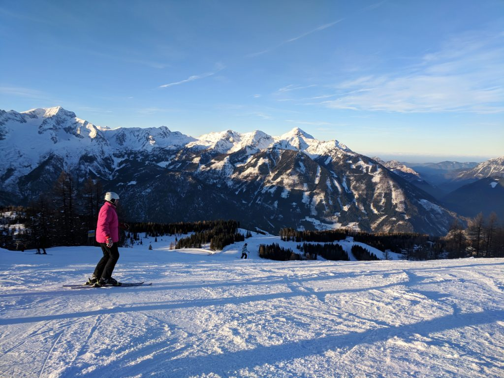 View from Hinterstoder, Austria - skiing in the Alps