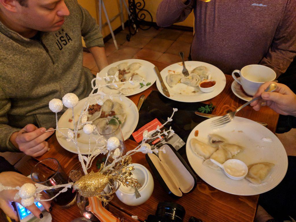 The best pierogi in Krakow Poland