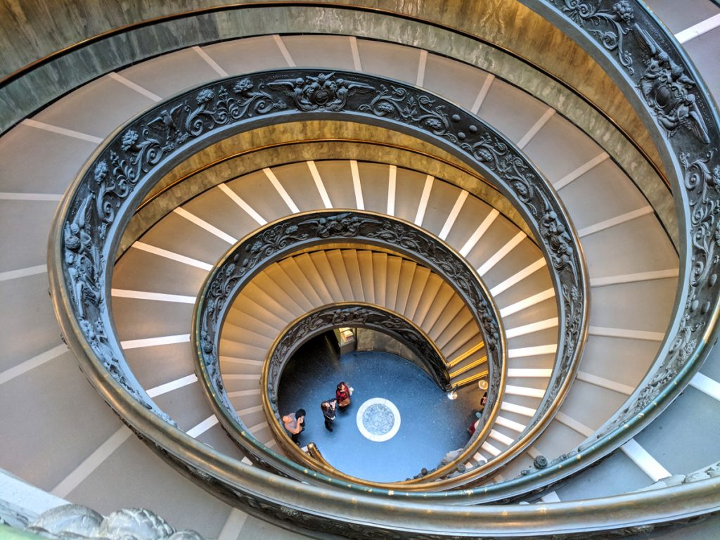 Spiral steps at the Vatican Museums