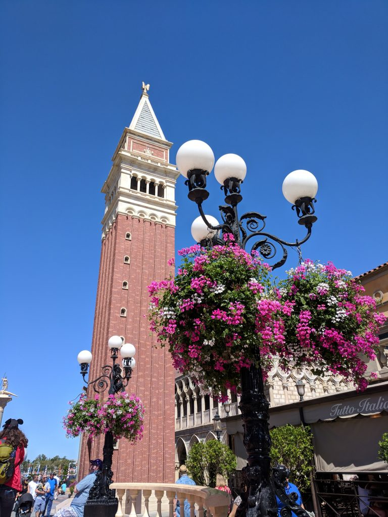 Italy pavilion at Epcot during the Flower and Garden Festival - Garden Rocks Concerts