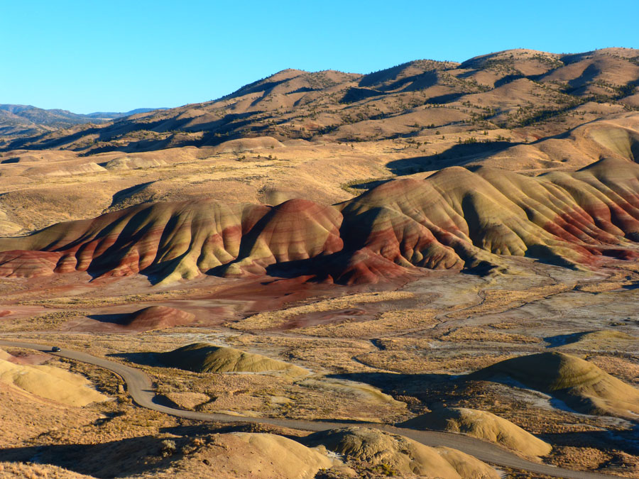 Rolling rock formations at John Day Fossil Beds National Monument