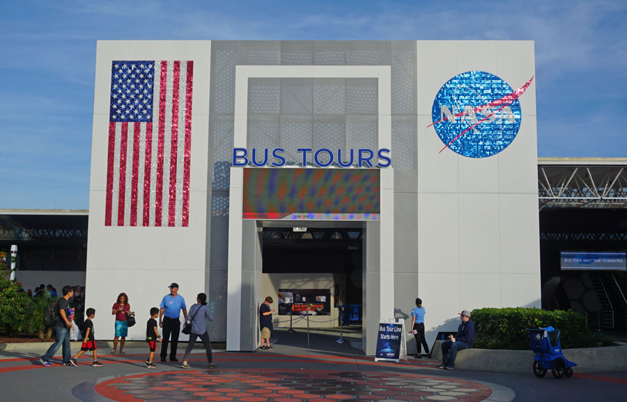 Kennedy Space Center bus tours entrance