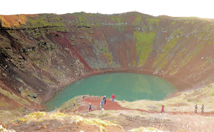 Colorful Kerid Crater in Iceland's Golden Circle