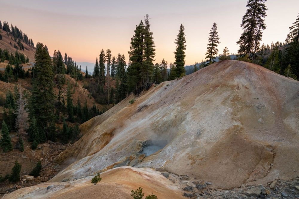 Rock formations at Lassen Volcanic National Park, a less-crowded alternative to Yellowstone