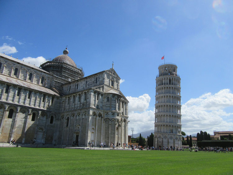 Leaning Tower of Pisa and basilica