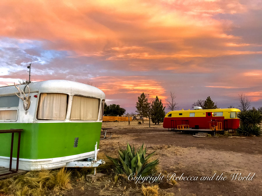 Glamping site in Marfa, Texas