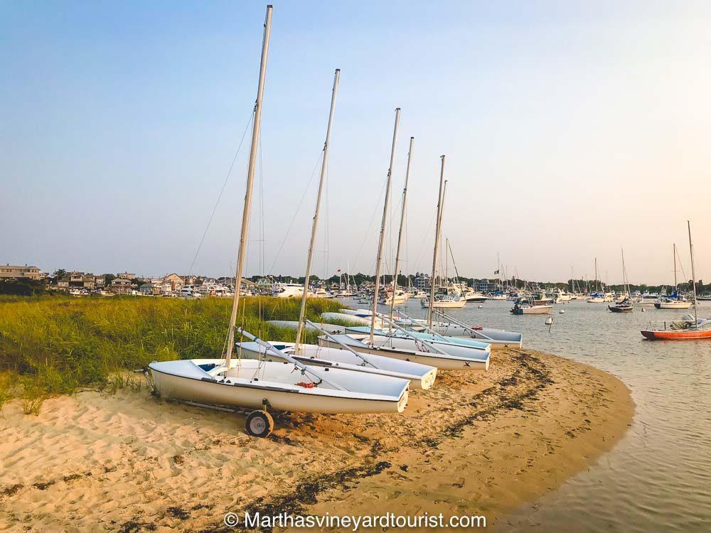 Boats on the beach at Martha's Vineyard