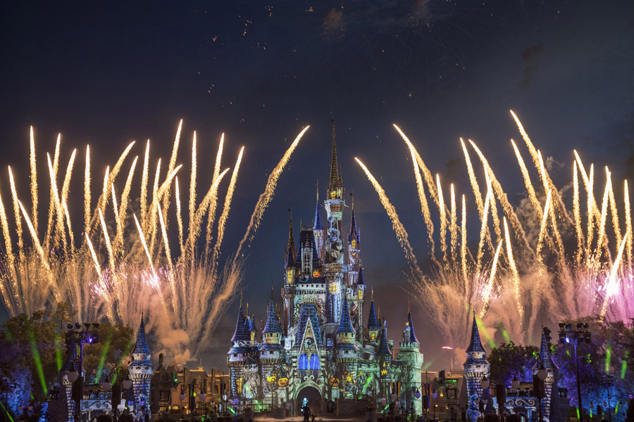 Fireworks as part of Disney's Not So Spooky Spectacular