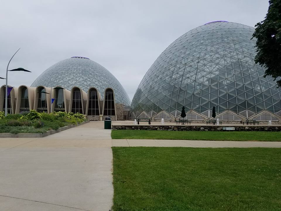 Domed structures with gardens