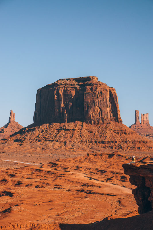 Rock formations in Monument Valley