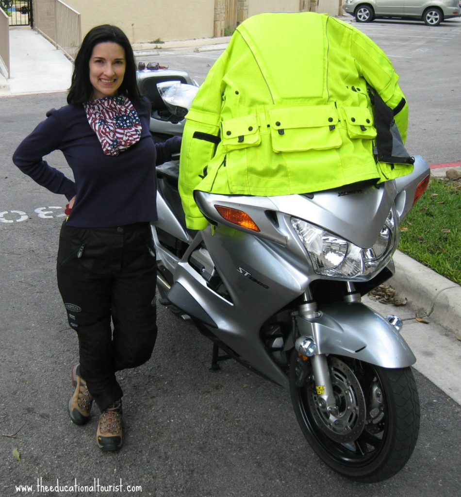 Couples motorcycle travel