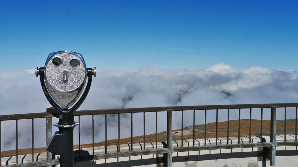 View from the top of Mt. Washington, New England's tallest peak