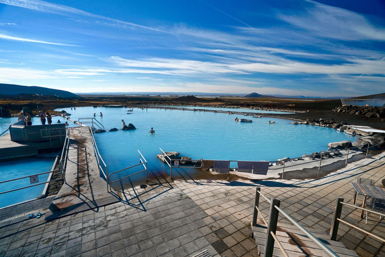 Pool at the Myvatn hot springs