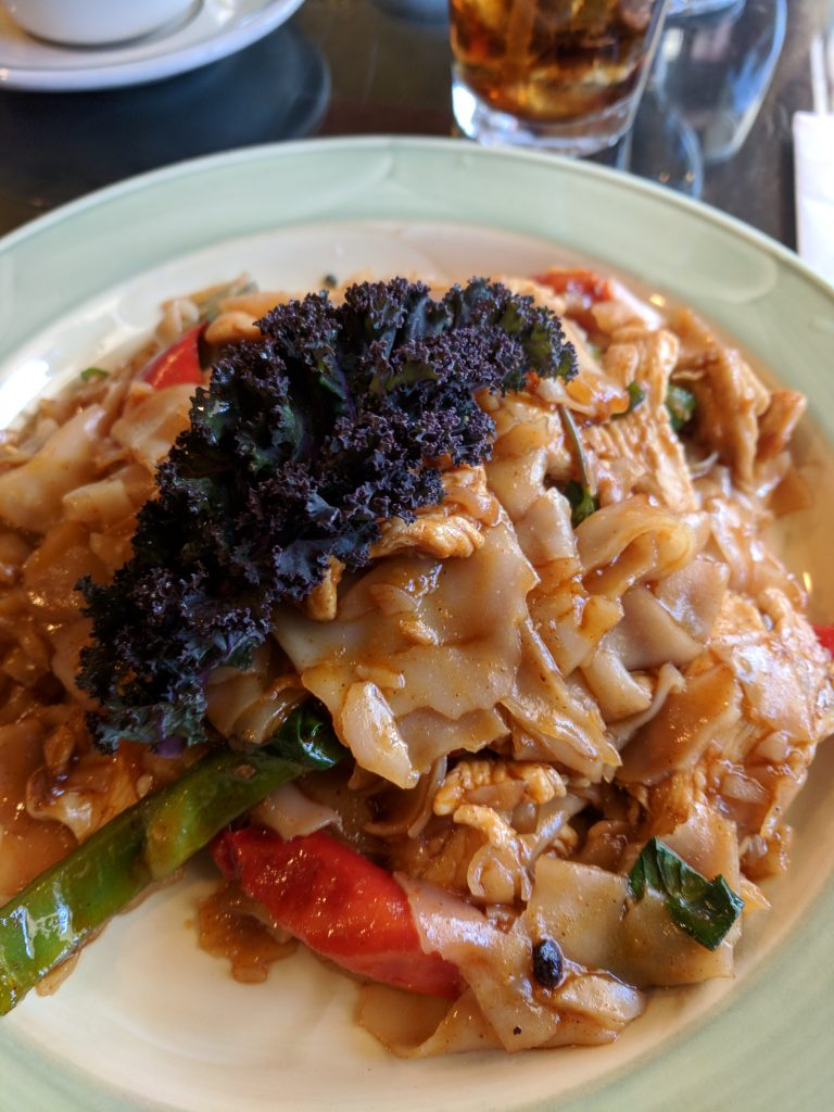 Spicy basil noodles at Orchid's Authentic Thai cuisine - best Thai food in South Lake Tahoe