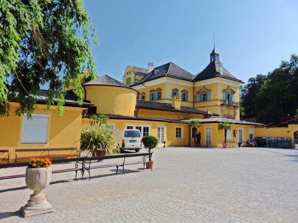Exterior of Schloss Hellbrunn Salzburg