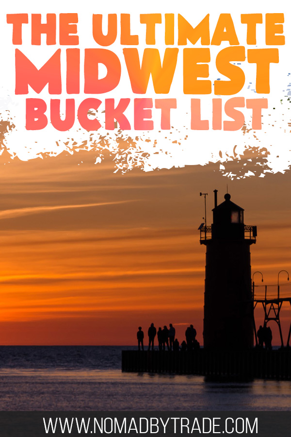 Orange sunset with a lighthouse silhouette with text overlay