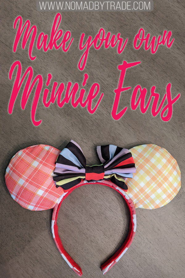 """Homemade Minnie Mouse ears with text overlay reading """"Make your own Minnie ears"""""""