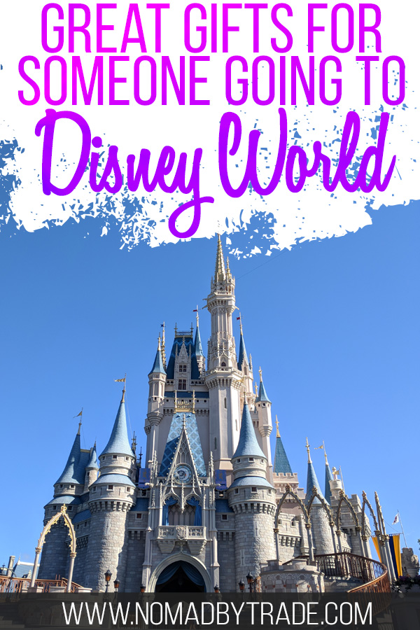 """Cinderella Castle with a text overlay reading """"Great gifts for someone going to Disney World"""""""