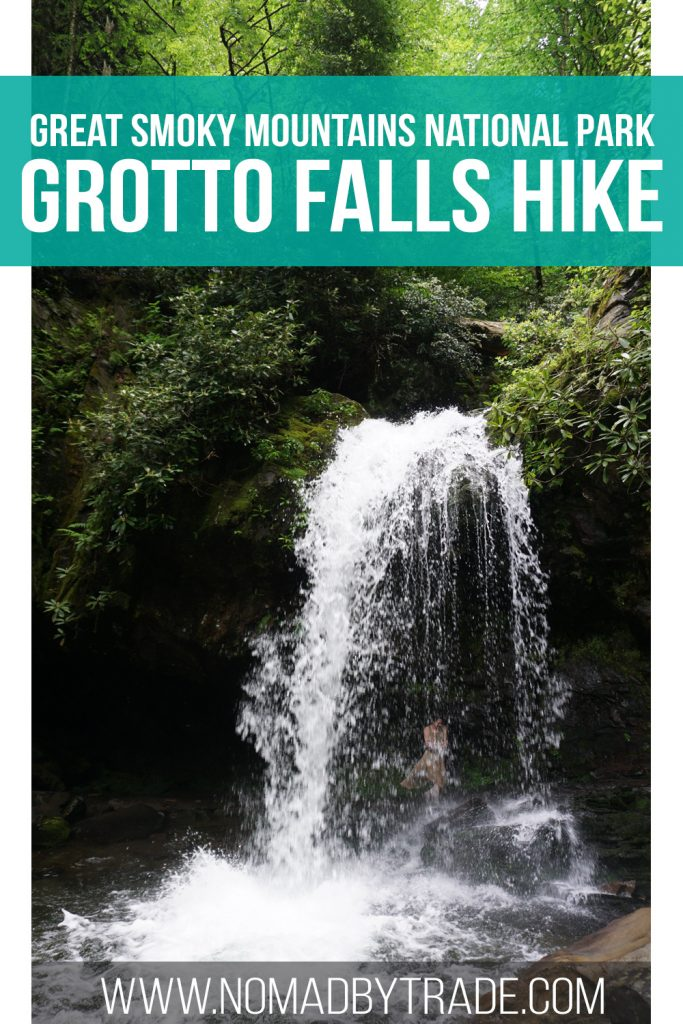 Grotto Falls is the only waterfall in Great Smoky Mountains National Park that visitors can walk behind. After a moderate 1.4 mile hike, Grotto Falls appears out of the green foliage. Find out more about one of my favorite Smoky Mountain waterfalls here!