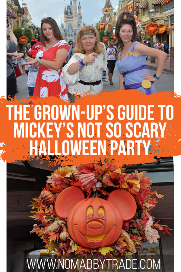 Disney Not So Scary Halloween Party images with text overlay