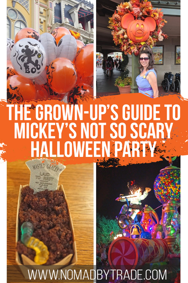 Mickey's Halloween Party images with text overlay