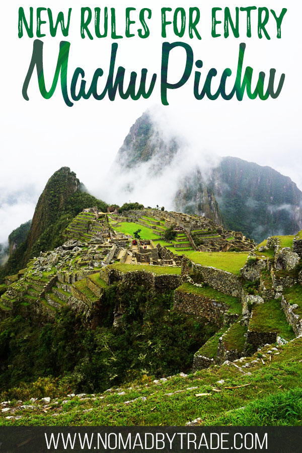 """Photo of Machu Picchu with text overlay reading """"New rules for entry Machu Picchu"""""""