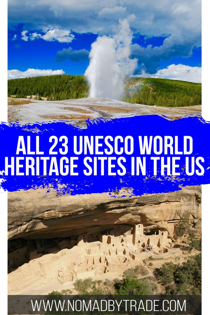 Old Faithful and Mesa Verde with text overlay