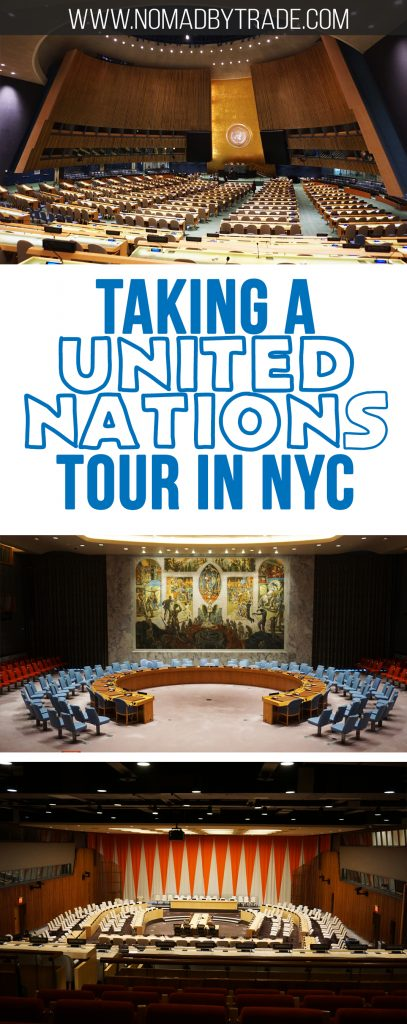 Want to get some in-person insight into how the United Nations operates? While in New York City, you can take a tour of the building and even step inside the Security Council Chamber and General Assembly room. Learn more about taking a UN Headquarters tour here. #NYC   #NewYorkCity   #UnitedNations   #UNHeadquarters   Things to do in New York City   Things to do in NYC