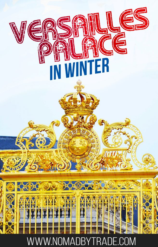 Visiting Versailles in winter helps skip the crowds, but are the gardens worth your time then? This post has all the info you need to plan a winter visit, including how to get to Versailles from Paris. #Versailles | #Paris | #VersaillesGardens | What to do at Versailles | Winter at Versailles | Hall of Mirrors | Versailles Gardens