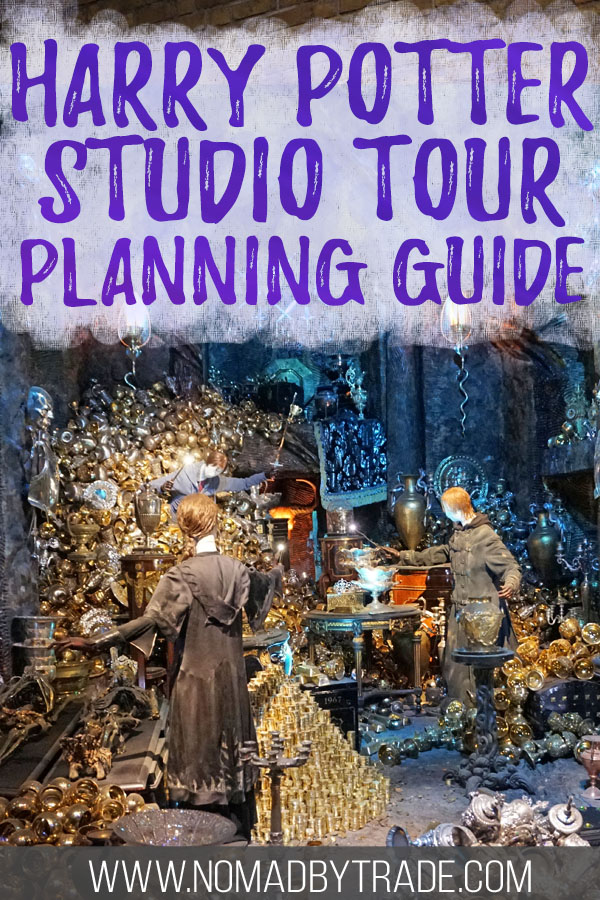 """Lestrange vault with text overlay reading """"Harry Potter Studio Tour planning guide"""""""