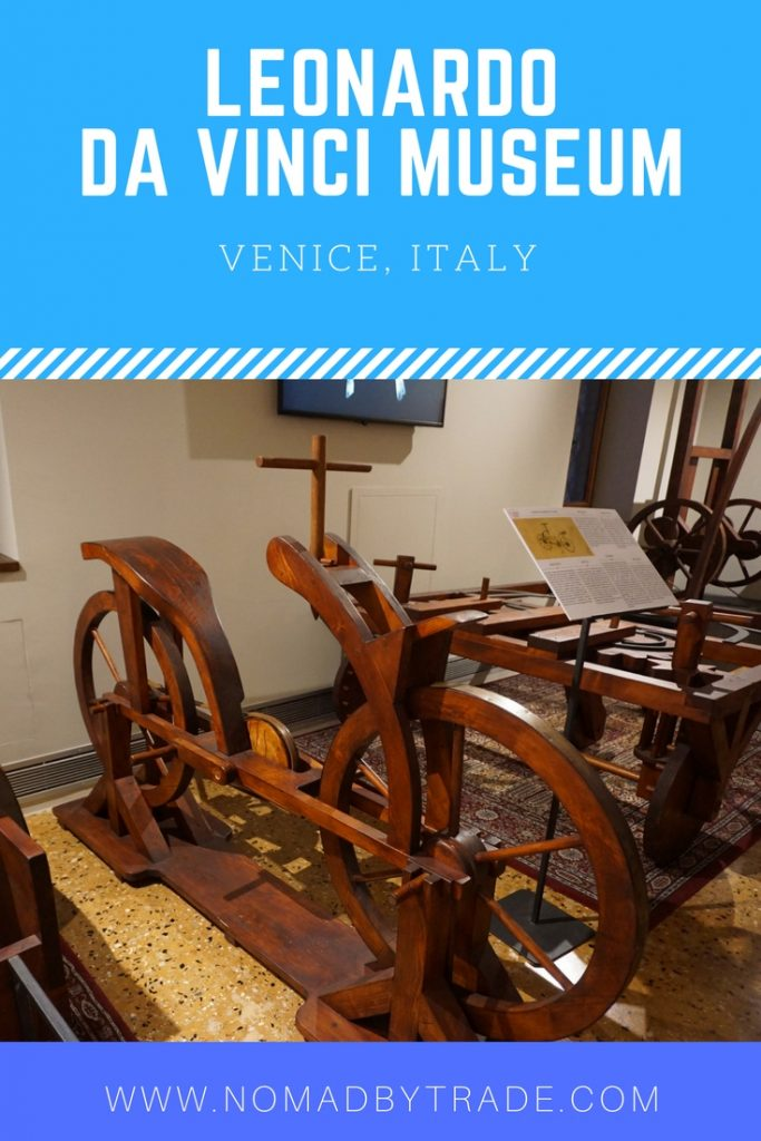 The Leonardo da Vinci Museum in Venice, Italy is full of his inventions and gives visitors a chance to play with them. See a machine gun, tank, ball bearings, automated hammer, and more. #Venice   #Italy   #DaVinci   Things to do in Venice   Venice museums   Family activities in Venice   What to do in Venice
