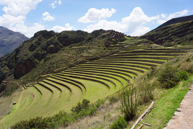 Incan terraces at Pisac in the Sacred Valley