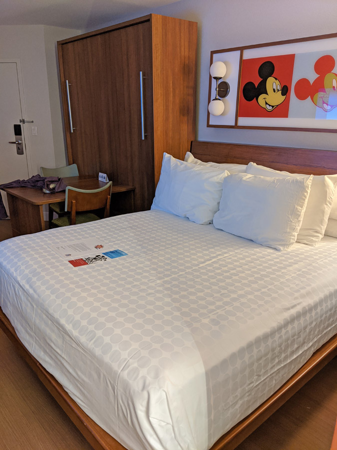 Pop Century preferred room with folded up murphy bed