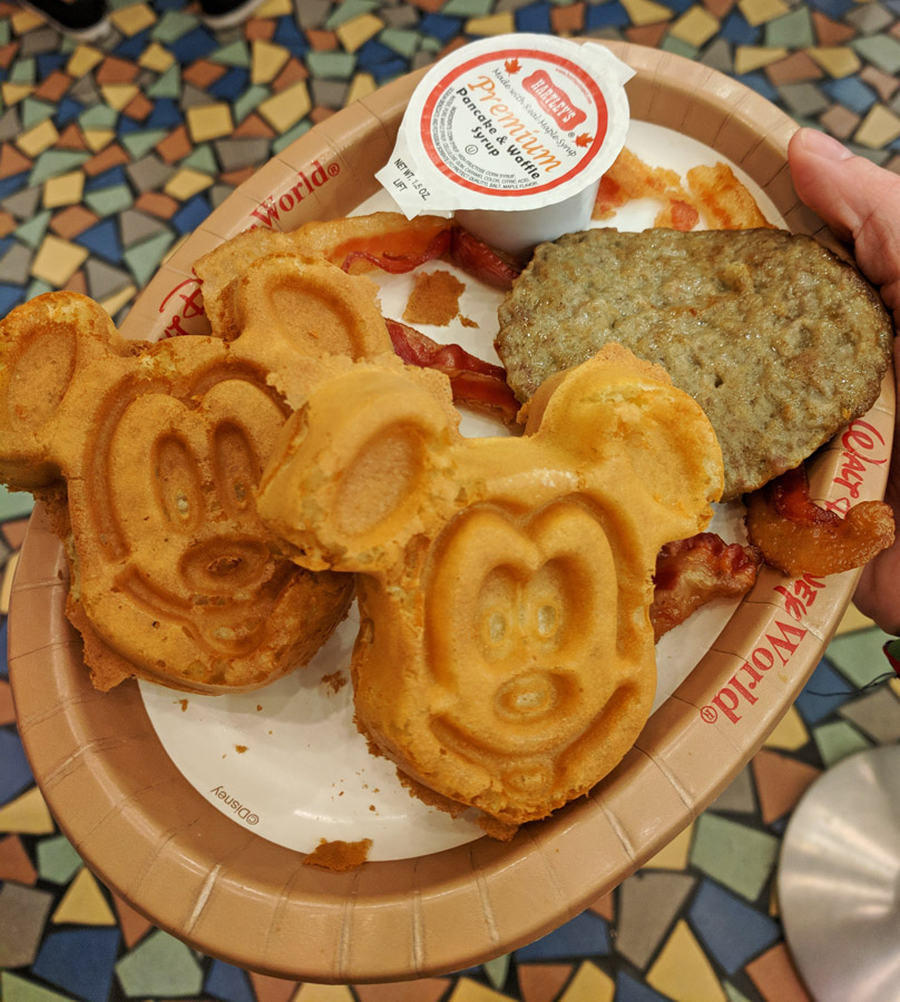 Mickey waffles at the Pop Century food court