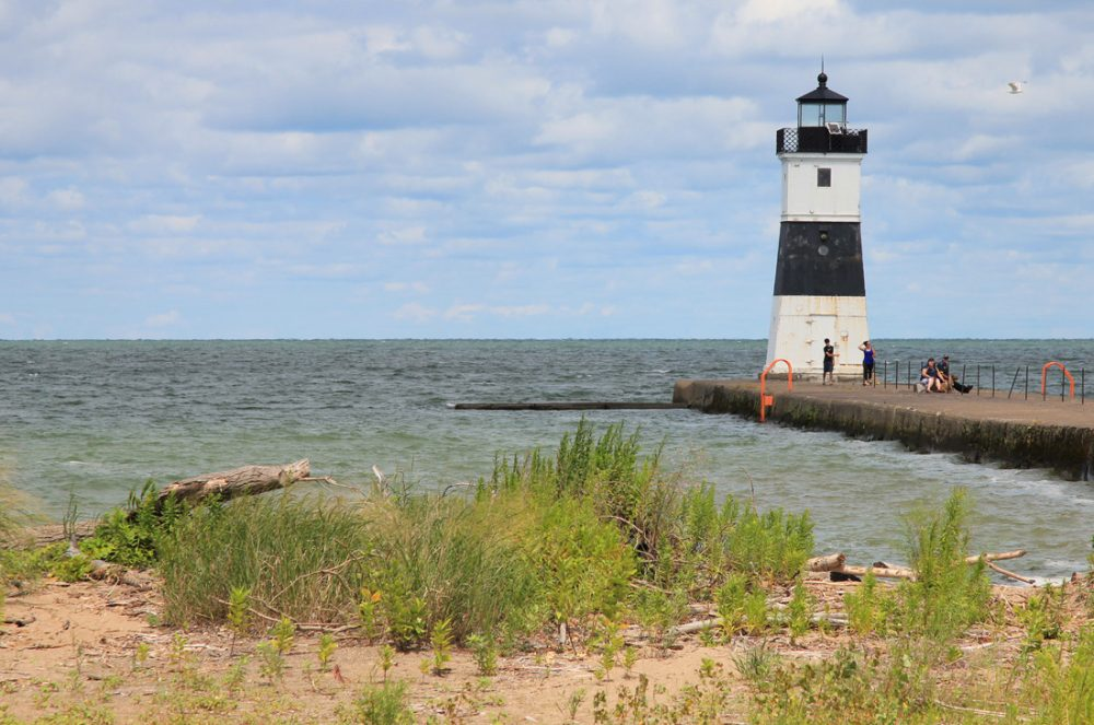 Lighthouse along the shore in Presque Isle State Park