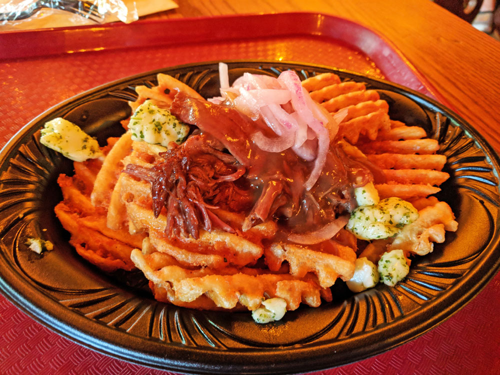 Poutine at the Red Rose Taverne in Disneyland