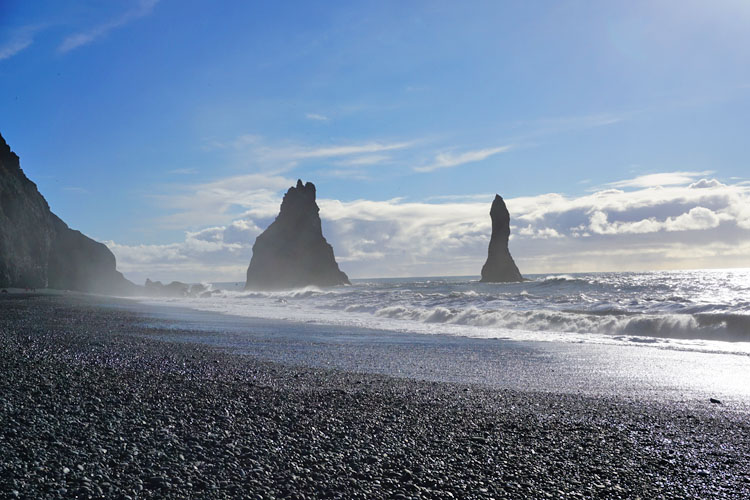 Reynisfjara black sand beach, one of the top ten things to do in Iceland