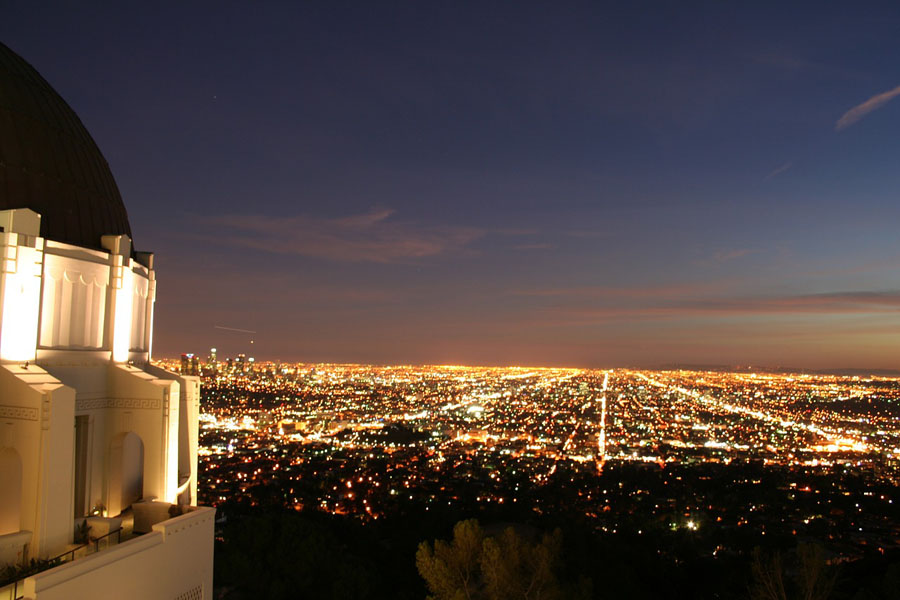 Dusky sky over LA from the Griffith Observatory