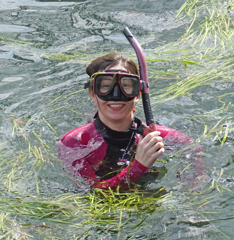 Woman snorkeling in Crystal River, Florida