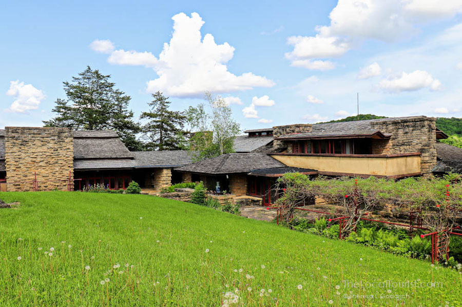 Photo of building at Taliesen, part of the Frank Lloyd Wright UNESCO site added in 2019