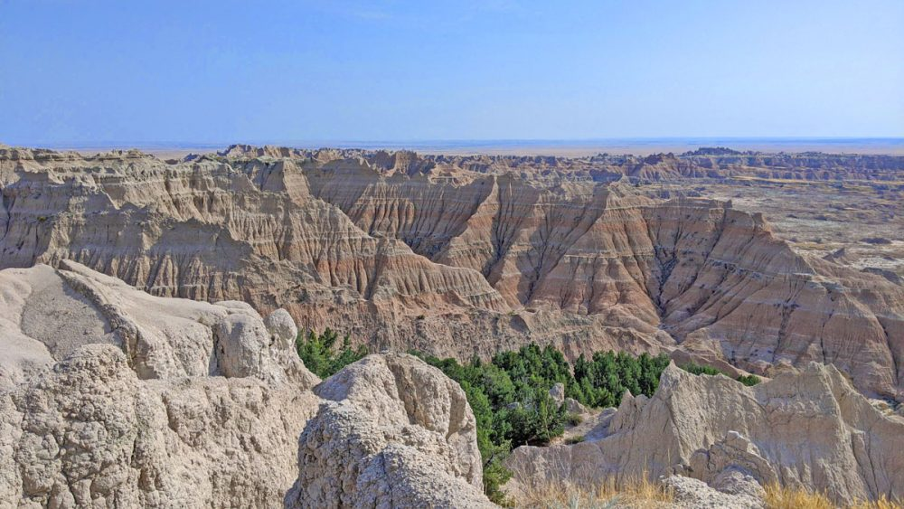 Rock formations in Badlands National Park