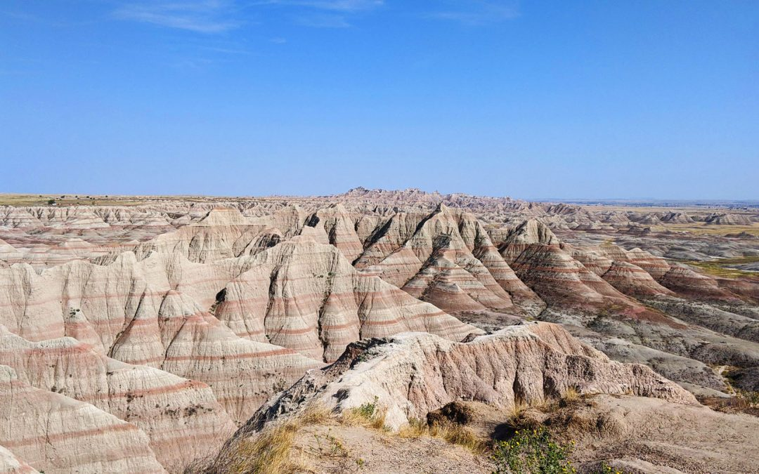 Rock formations viewed when visiting Badlands National Park