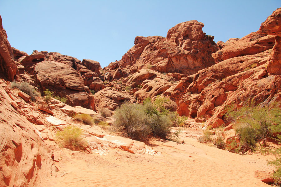 Red rock formations in Valley of Fire State Park