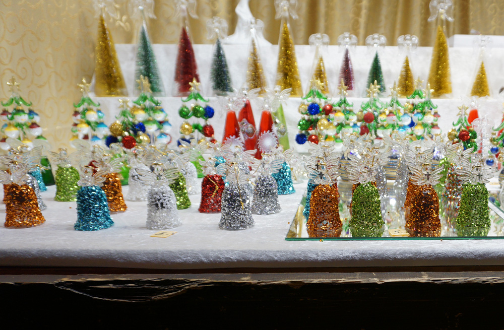 Glass figurines for sale at the Vienna Christmas Market
