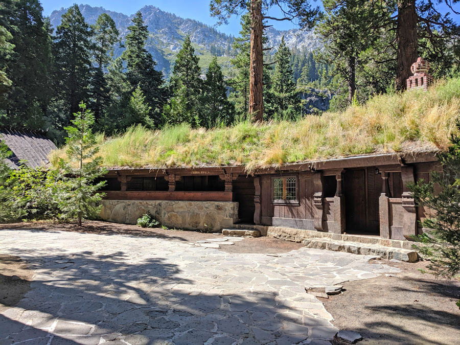Grass covered roof at Vikingsholm Tahoe