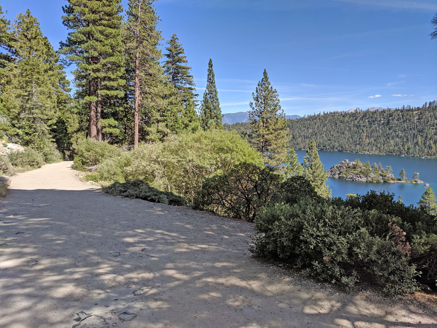 View of Emerald Bay from the Vikingsholm trail