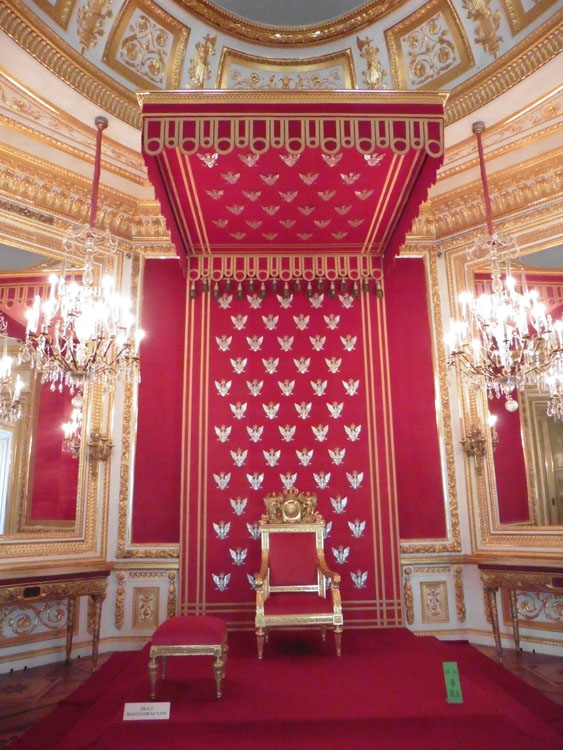 Throne in the Royal Palace in Warsaw