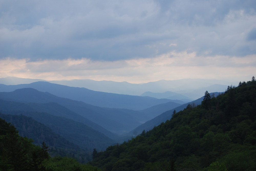 Rolling mountains in Great Smoky Mountains National Park